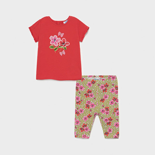 Mayoral Baby Girls Red 2 Piece Legging Set