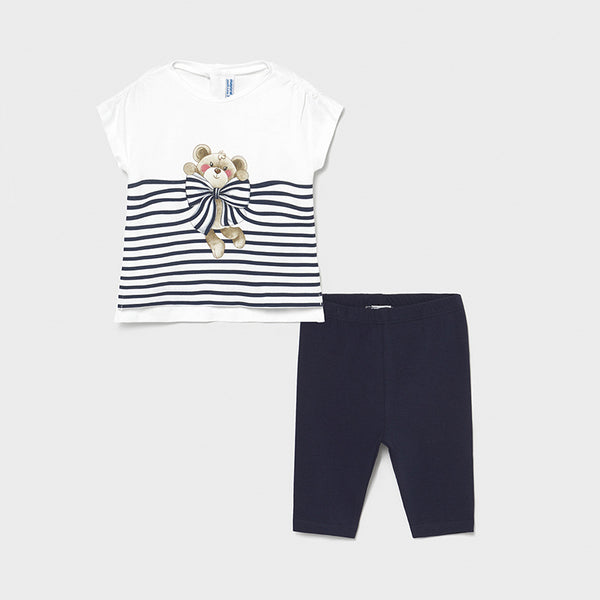 Mayoral Baby Girls Navy 2 Piece Legging Set