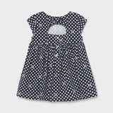 Mayoral Baby Girls Navy Dot Dress