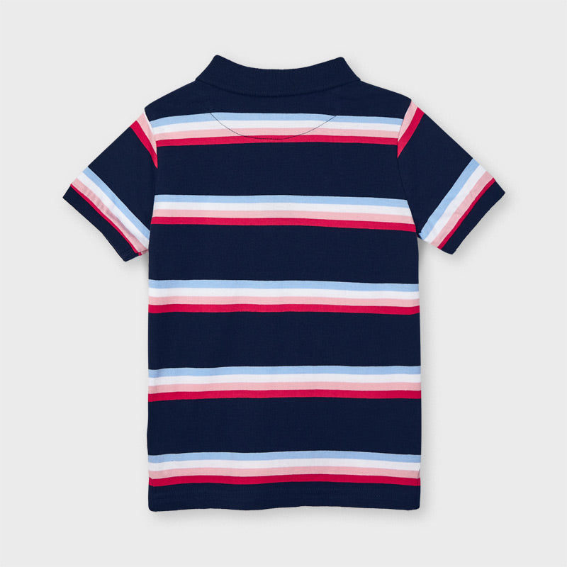 Mayoral Boy Striped Short Sleeve Polo