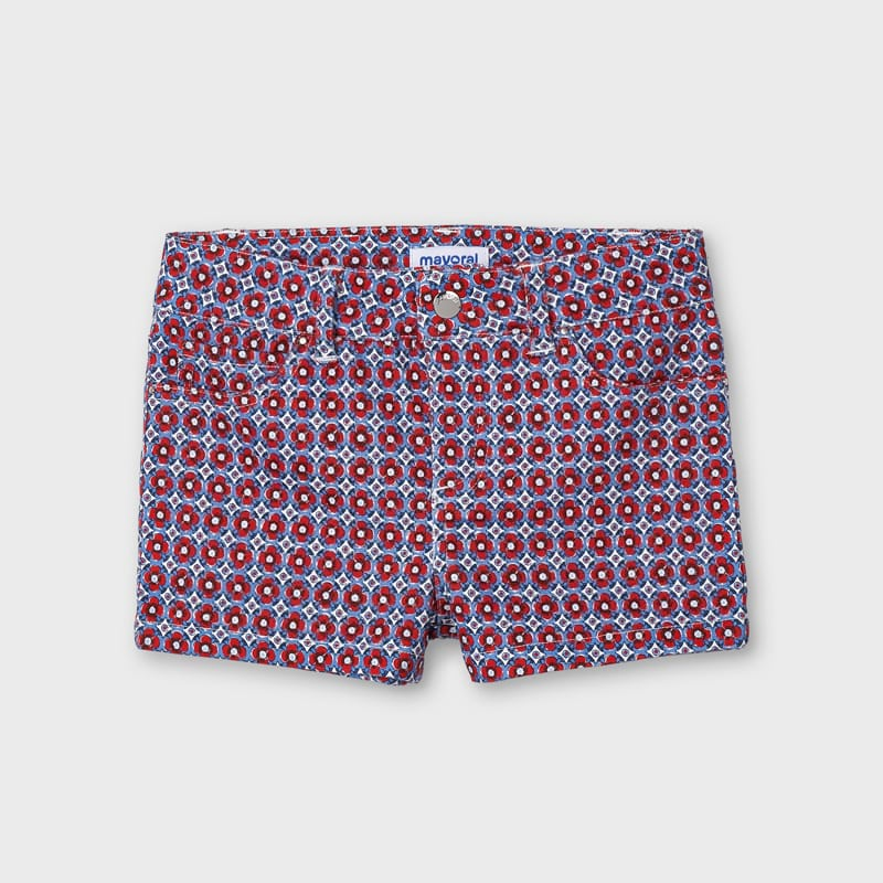 Mayoral Girl Poppy Print Shorts