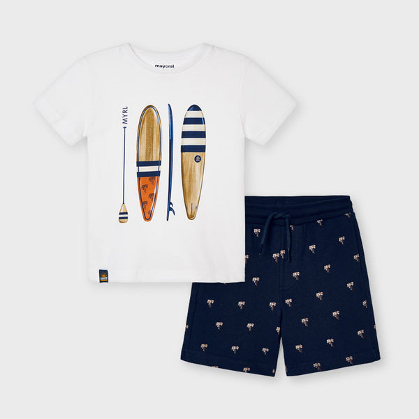 Mayoral Boy White Tee & Bermudas