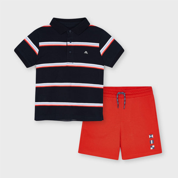 Mayoral Boy Stripe Polo & Bermudas