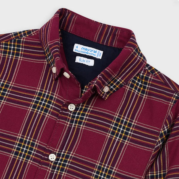 Mayoral Boy Red Check Shirt