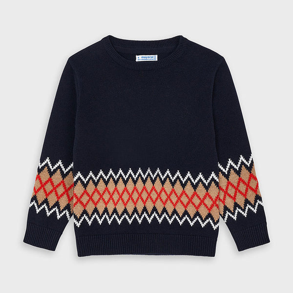 Mayoral Boy Navy Jaquard Sweater