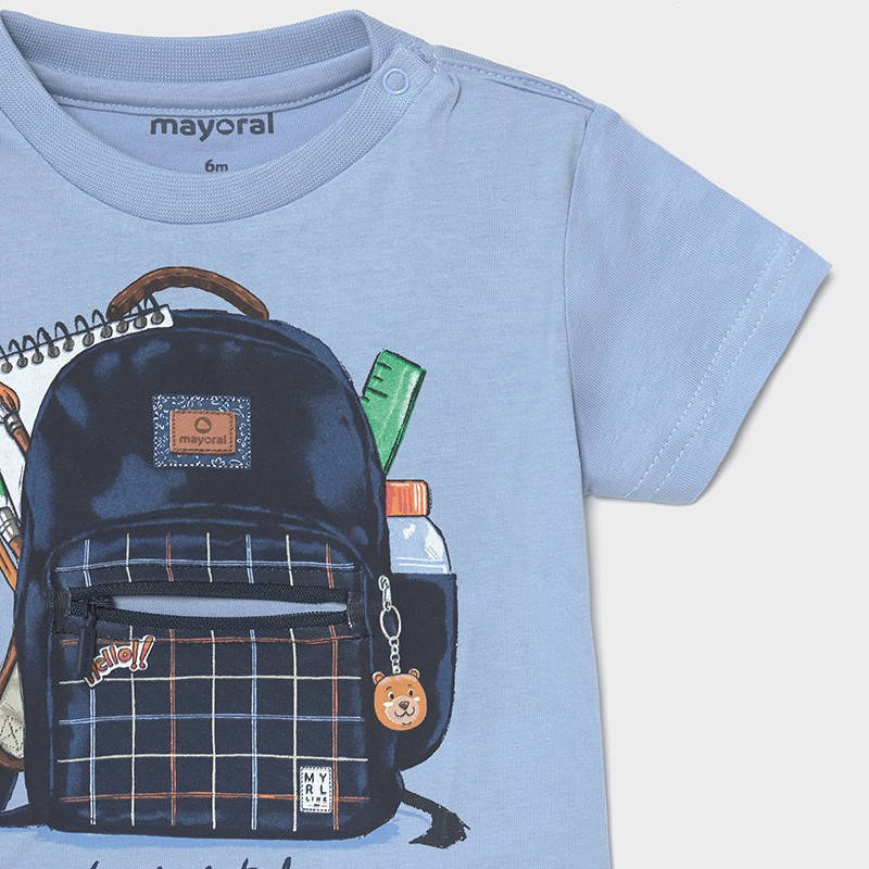 Mayoral Baby Boys Blue Backpack Tee