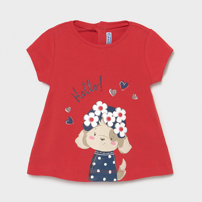 Mayoral Baby Girls Red Mouse Tee