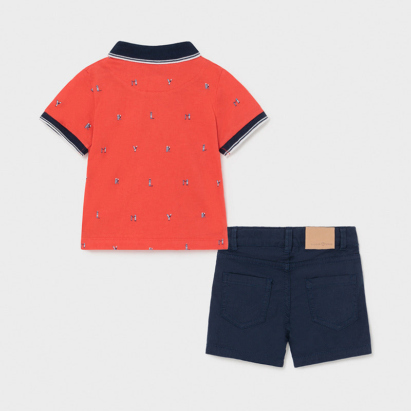 Mayoral Baby Boys Polo & Shorts Set