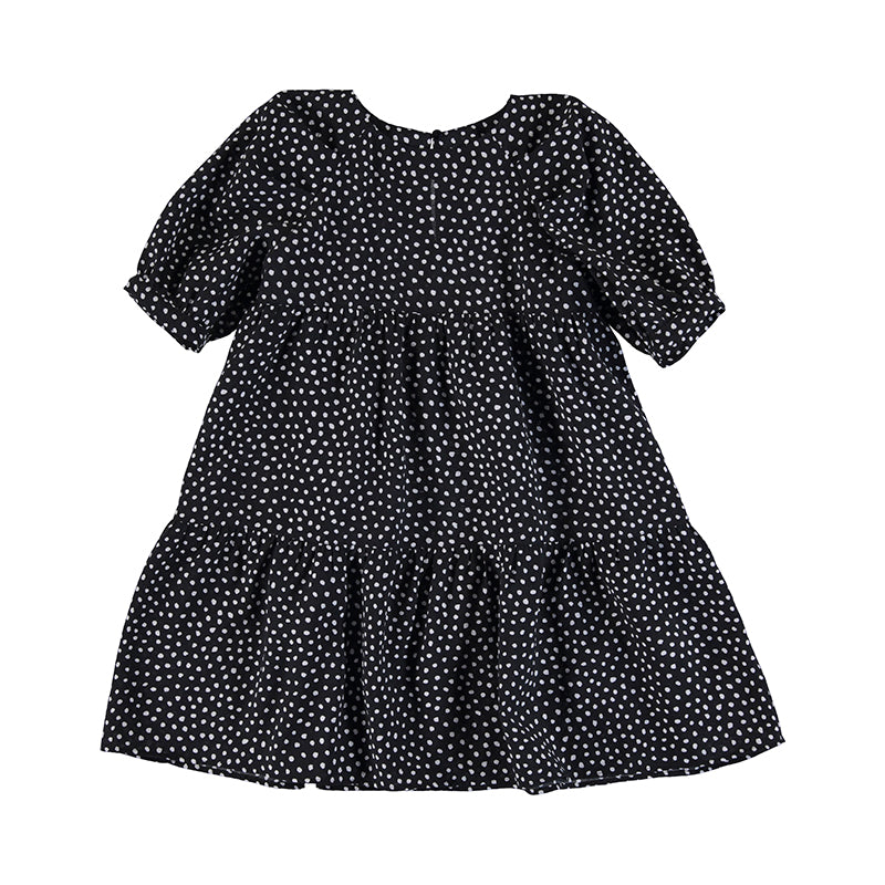 Mayoral Teen Girl Black & White Dot Dress