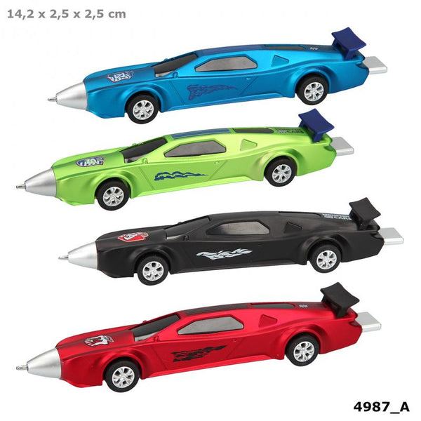 Monster Cars Ballpen With Pull-Back Function