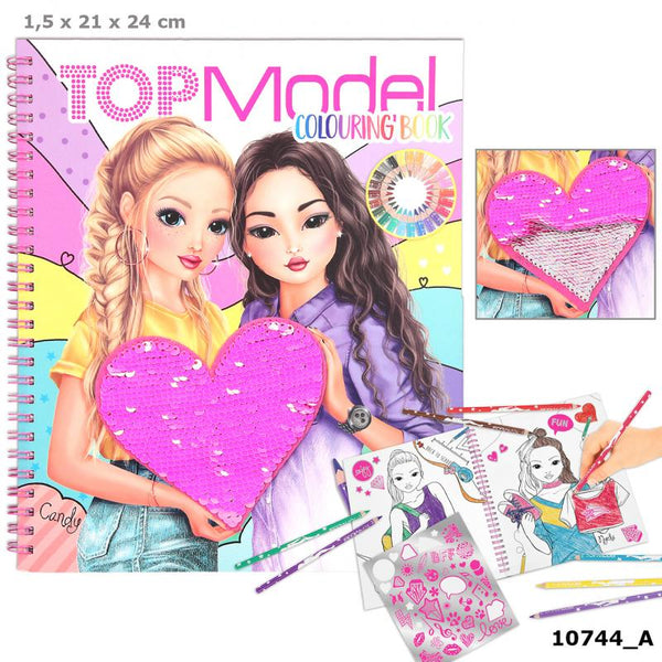 TOPModel Topmodel Colouring Book With Reversible Sequins