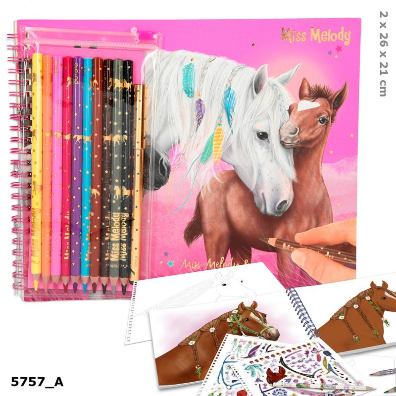 Miss Melody Colouring Book With Pen Set