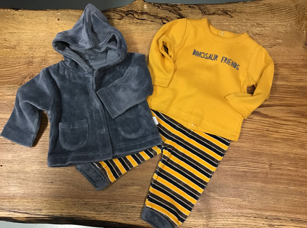 Babybol Baby Boy Yellow & Grey 3 Piece