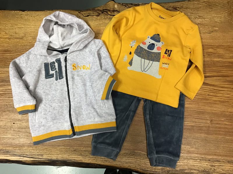 Babybol Baby Boy 'Snow' Yellow & Grey