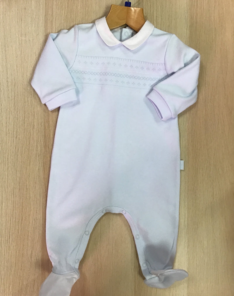 TUTTO Piccolo Baby Boy Blue Peter Pan Babysuit