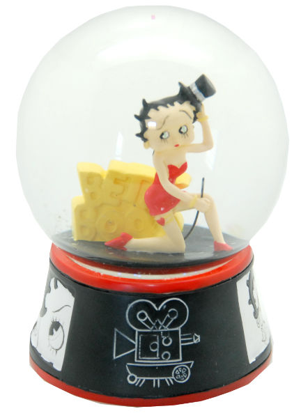 Cartoon Schneekugel Betty Boop - Luftblase