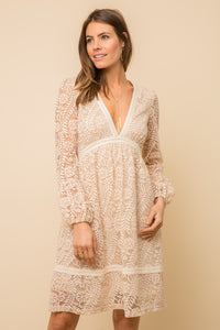 Deep V Lace Dress
