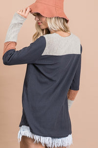Mutli Color Contrast Tunic