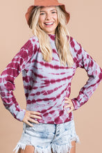 Load image into Gallery viewer, Tie Dyed Mock Neck Long Sleeve Shirt