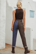 Load image into Gallery viewer, Blue & Black Denim Jeans