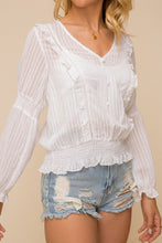 Load image into Gallery viewer, V Neck Ruffle Smocked Top