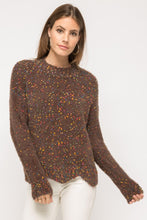 Load image into Gallery viewer, Wavy Hem Popcorn Pullover Sweater
