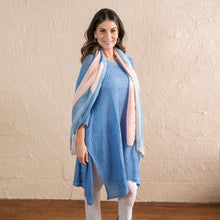 Load image into Gallery viewer, Cornflower Blue Crochet Poncho