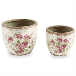 Rose Stamped Pot - Small