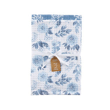 Load image into Gallery viewer, Blue Floral Dish Towel Set