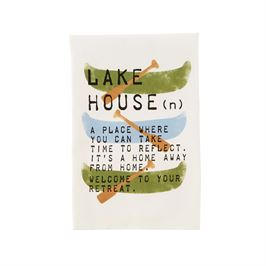 Lake Theme Cotton Hand Towel