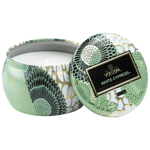 White Cypress Mini  Tin