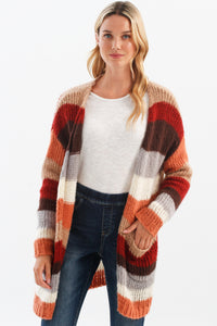 Striped Cardigan w/Pockets