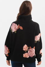 Load image into Gallery viewer, Printed Flowers Turtleneck Sweater