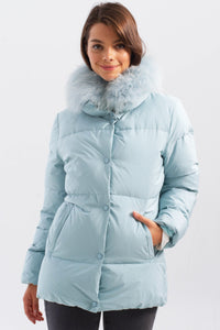 Removable Fur Collar Puffer Coat