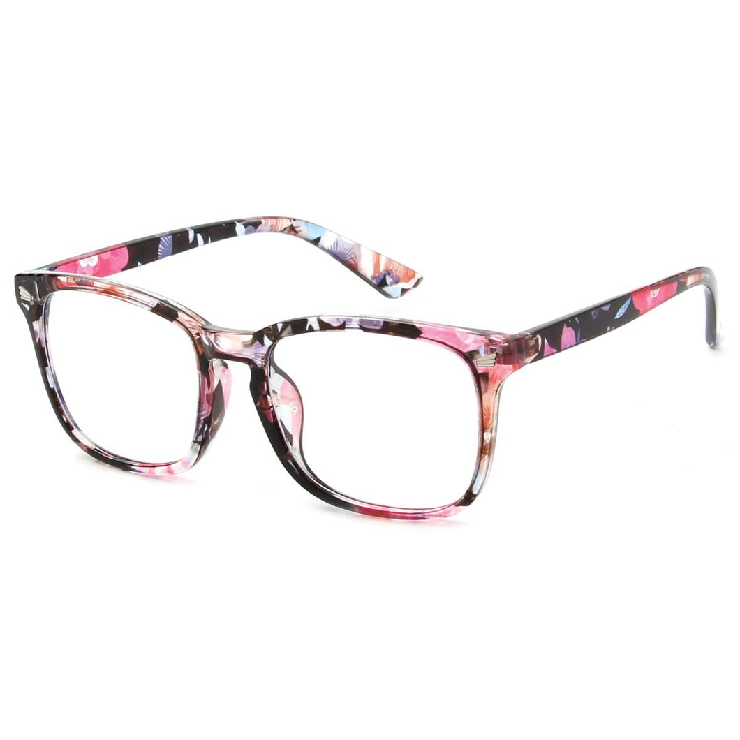 Multi Color Horn Rimmed Frame Blue Light Glasses
