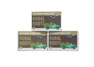 Rural Roots Peppermint Pumice Soap Bar 8 oz