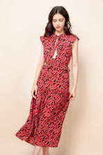 Load image into Gallery viewer, Print Maxi Dress w/Tassel