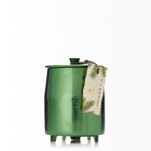 Thymes Frasier Fir Heritage Green Metal Tin Candle
