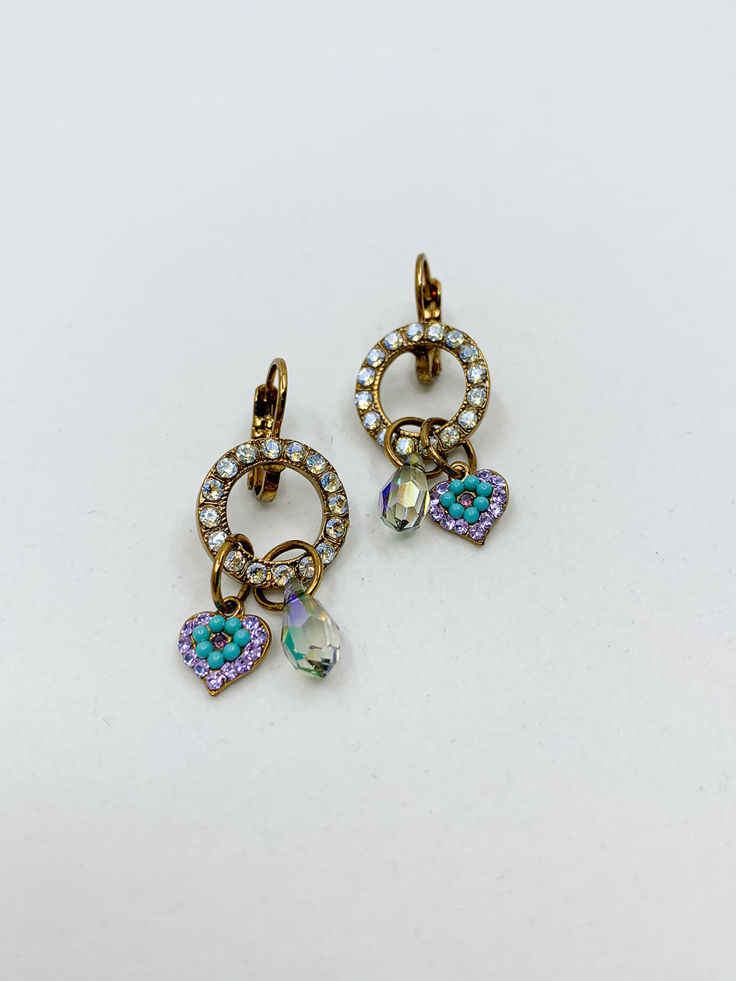 Mariana Lavender Earring with Charms