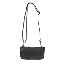 Load image into Gallery viewer, Black Woven Crossbody Wristlet Clutch