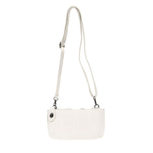Load image into Gallery viewer, White Woven Crossbody Wristlet Clutch