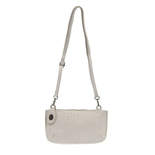 Load image into Gallery viewer, Grey Woven Crossbody Wristlet Clutch