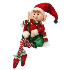 Fabric Sitting Christmas Candy Elf