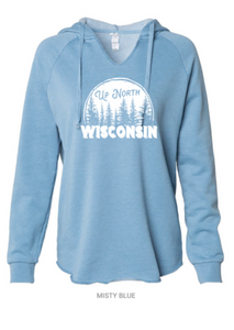 Up North WI V-Neck Hooded Sweatshirt