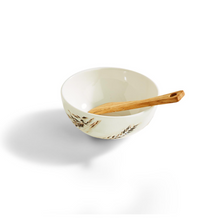 Load image into Gallery viewer, Artisan Grains Tidbit Dish w/Wooden Spreader