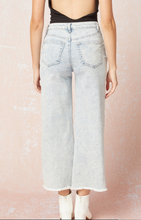 Load image into Gallery viewer, Wide Leg Acid Wash Jeans