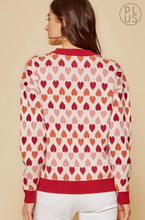 Load image into Gallery viewer, Plus Size Heart Design Sweater