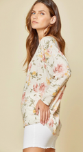 Load image into Gallery viewer, Floral Print Dolman sleeve Top