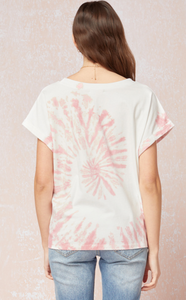 Tie-dye Print Short Sleeve Top