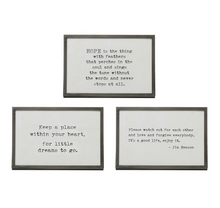 "Load image into Gallery viewer, 6""x4"" Metal Frame w/Saying"